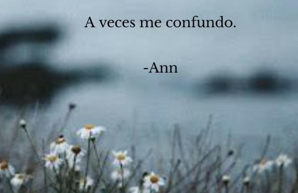 A veces me confundo. -Ann